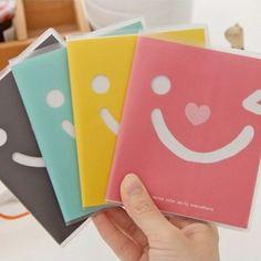 Bendable Color Will Be Random Smile Face Design Paper Notebook Agenda:Asujewelry.com