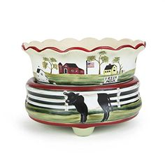 2 in 1 Dairy Farm Ceramic Candle Warmer -- Visit the image link for more details. #ScentedCandles