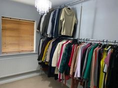 Wall to Wall Clothes Rail - 4m Wall Clothes Rail, Tube Clamp, Build A Wardrobe, Hanging Rail, Scaffolding, Plates On Wall, Attic, Bespoke, Loft Room