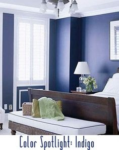 Love the bold wall color and white trim and ceiling! So fresh and clean! Guest bedroom idea?