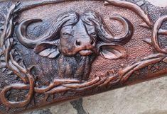 Rifle Stock, Gun Art, Custom Guns, Hunting Rifles, Bone Carving, Wood Carvings, Wood Sculpture, Leather Tooling, Firearms