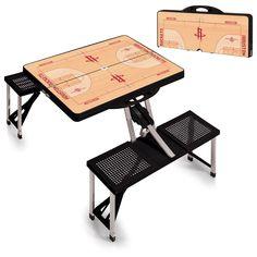 Houston Rockets NBA Black Portable Picnic Table