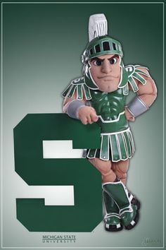 Images of Michigan state university | Sparty of the Michigan State Spartans!