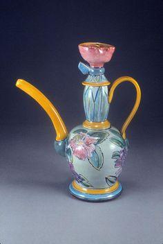 Linda Arbuckle. 1991. Majolica on terracotta, Spring Teas.
