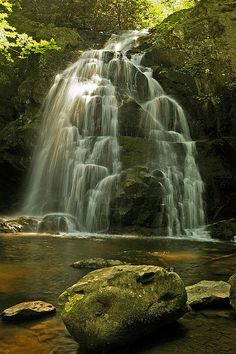 Spruce Flats Falls, Great Smoky Mountain National Park, Tennessee; photo by Ulrich Burkhalter