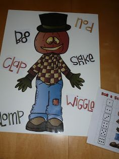 Classroom Freebies Too: Roll or Spin a Scarecrow
