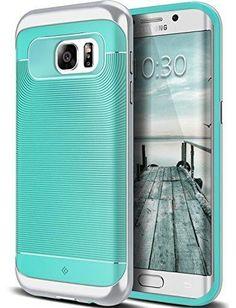 Galaxy S7 Edge Case Caseology [Wavelength Series] Slim Ergonomic Ripple Design [Mint Green] [Modern Grip] for Samsung Galaxy S7 Edge (2016)