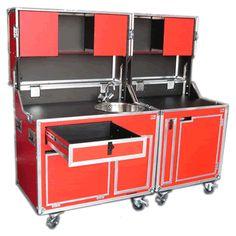 Flightcase KITCASE Schrank- Koffer-Küche