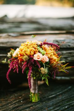 Fall Bouquet | More fall wedding #inspiration on SMP: http://www.stylemepretty.com/deception-pass-weddings/2014/01/17/romantic-fall-wedding-inspiration/ Karen Obrist Photography