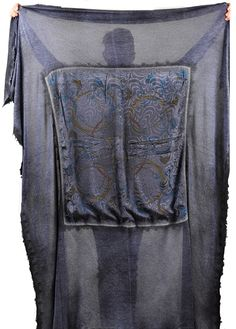 Avant Toi Shawl at Santa Fe Dry Goods - Felted Cashmere & Vintage Hermez Silk Scarf