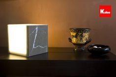 Koloo Cube Lamp  Material: Piasentina L Stone