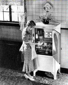 In the 1920's, when refrigerators were just becoming available to all Americans, they were small, expensive & a real luxury.