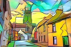 Ireland, Digital Art, Abstract, Street, Artwork, Summary, Work Of Art, Auguste Rodin Artwork, Artworks