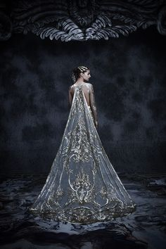 Michael Cinco's magnificent Fall/Winter 2017 couture collection inspired by Château de Versailles, the palace built during the reign of Louis XIV – the Roi Soleil (Sun King) Michael Cinco, Fantasy Gowns, Fantasy Hair, Fantasy Makeup, Queen Dress, Prom Dresses, Wedding Dresses, Couture Collection, Beautiful Gowns