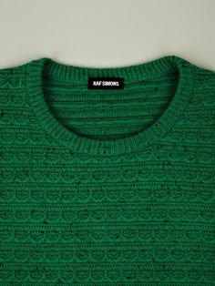Raf Simons Raf Simons Mens Structure Stitch Knit in Green for Men
