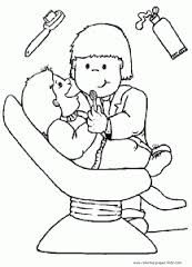 dentist coloring community helpers coloring sheets - Community Helpers Coloring Pages