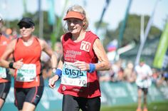 """Introducing Willemien Smuts, one of our Inspirational Runners. She has been running for the last 24 years and has not stopped since. A member of Pentagon Pistols Running Club, """"Tannie Willemien"""" is not only passionate about running; at almost 74 years old, she is the OLDEST participant to run on Friday AND Saturday (10km Trail and Half Marathon)! Running Club, 24 Years, Pistols, Pentagon, Year Old, Marathon, Runners, Trail, Friday"""