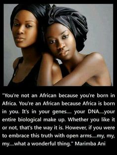 Think about it! I wish more Africans from Africa would treat the African American better like this says.
