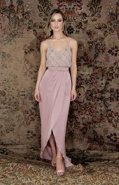 The perfect skirt for black-tie events, bridesmaids, and even an alternative Debs look! Pair it with one of our beaded tops for an effortlessly elegant look! Bridesmaid Dresses, Wedding Dresses, Bridesmaids, Full Length Skirts, Bridal Stores, Beaded Top, Black Tie, Casual Looks, Midi Skirt