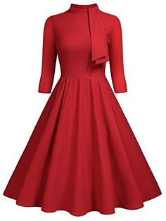 Everyday Dresses, Collar Styles, Casual Party, 1950s Fashion, Retro Style, 1950s Style, Swing Dress, Street Style Women, Beautiful Dresses