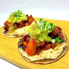 Mushrooms al pastor tacos