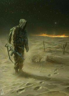 [ tracks and spoor. Apocalypse Art, Apocalypse World, Post Apocalyptic Art, Cthulhu, Mad Max, Military Art, Fallout, Fantasy Artwork, Sci Fi Art