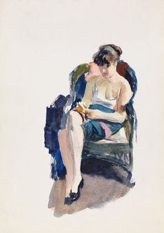 urgetocreate: Edward Hopper, Jo Seated, 1935