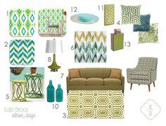 Kate Brock Interior Design ll eDesign Board ll Fun & Funky!