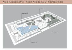 Area Axonometric - Pearl academy of fashion