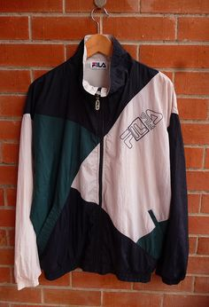Vintage FILA Windbreaker Multicolour Bjorn Borg Style Tennis Casual Hip hop Royalty Swag Bomber Jacket