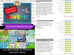 An interactive powerpoint for every letter with built-in brain breaks and music!  SO MUCH FUN!