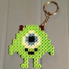 MIke Monsters Inc keyring hama beads by customizaydiy