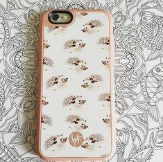 Happy Hedgehog Phone Case by Wonder Forest. Great shot by @itsbelder!