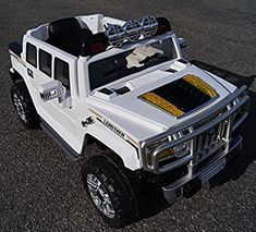 Amazon.com: USA JJ255A White Hummer Style Ride-on Car for Kids 2-5 Years Old with Remote Control: Toys & Games