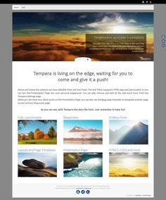 WordPress site rocketcomedy.co.uk uses the Tempera wordpress template