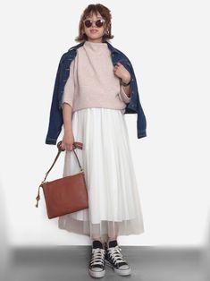 インスタ: mii_wear 春たくさん履きたいチュールスカート🌼 outer: lagemme