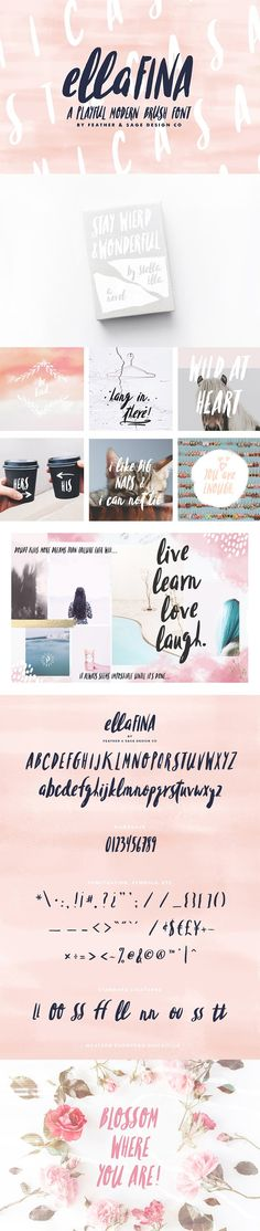 LAUNCH SALE!!! Ellafina Brush Font  @creativework247