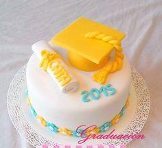 Torta de Graduación Graduation Cake Fondant, Birthday Cake, Cakes, Desserts, Food, Tortilla Pie, Pastries, Degree Of A Polynomial, Pies