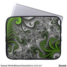 Fantasy World Abstract Fractal Art Laptop Sleeve