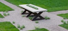 precast concrete tabletops & recycled timber salvaged from Kentucky barns