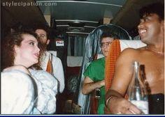 Lisa, Bobby Z, Dr Fink & Brown Mark on tour bus