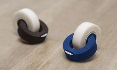 derk reilink rethinks traditional tape dispenser with linked clicktape - designboom | architecture