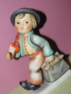 Vintage  Hummel Figurine Little Boy with by TheIDconnection, $30.00    Vintage  Hummel Figurine Little Boy http://TheIDconnection.etsy.com Western Germany retro 1940's  http://etsy.me/Ajv2bg via @Etsy