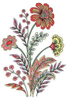 Indian Flowers, Purple Flowers, Draw Flowers, Big Flowers, Red Roses, Baroque Pattern, Pattern Art, Pattern Design, Flower Prints