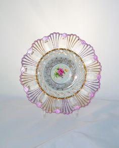 Garden Art Glass Plate Flower .................................. by GlassBlooms (Etsy)