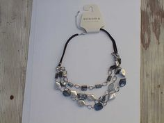 Abalone and silvery chunk necklace