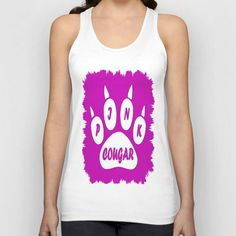 PINK COUGAR Unisex Tank Top by Robleedesigns on Wanelo
