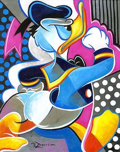 Donald Duck - Duck March - Original - Tim Rogerson - World-Wide-Art.com
