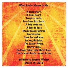 14 Best EASTER SPEECHES images | Easter poems, Easter ...