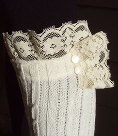 Leg Warmer Boot Socks w/ Ruffled Lace & by TimelessAffair on Etsy,